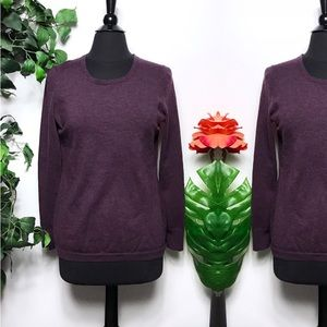 Banana Republic Purple Merino Wool Sweater - L
